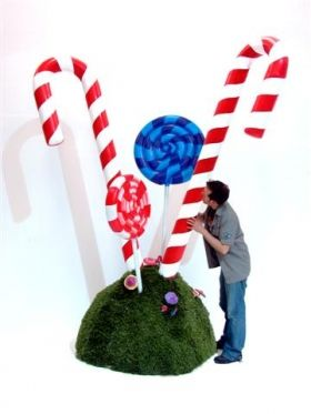 Large Candy Cane Decoration Creative Lighting And Trussing Units Shaped In The Size Of Giant