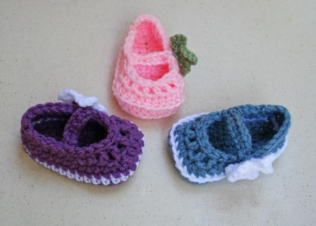 4 Name Crocheting Mary Jane Skimmer Booties Babykid Tips