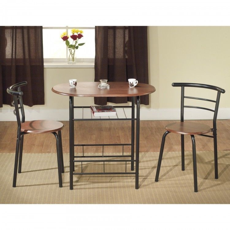 Two Person Dining Set Small Dinette Table Chairs 2 Seat Breakfast ...