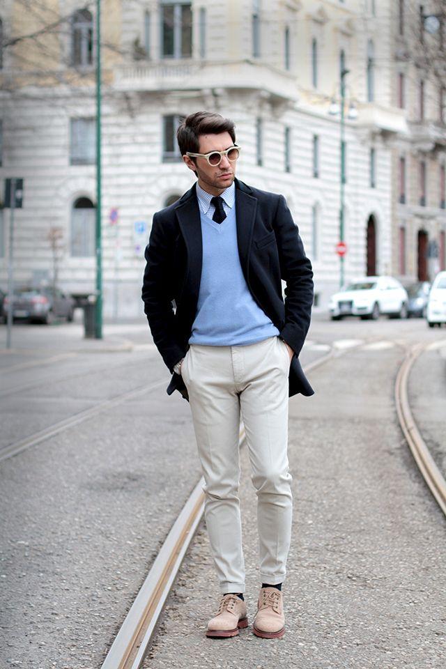 Royal Hem coat Principe Firenze shirt Boggi tie Incotex slim fit chinos  Cesare Paciotti 308 Madison