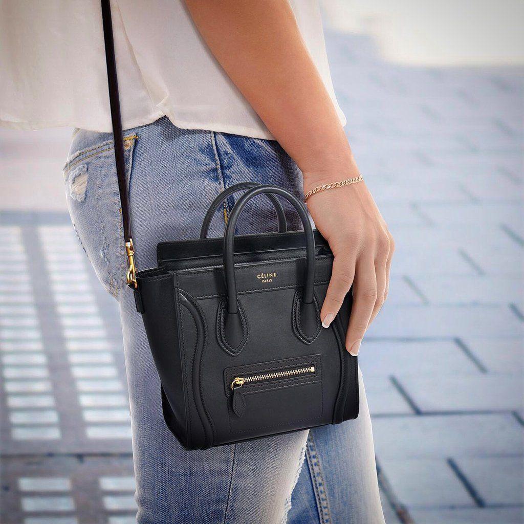 fa9bc8681f Shop authentic Celine Nano Luggage Tote at revogue for just USD ...