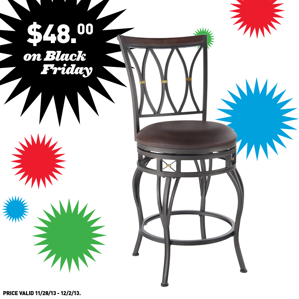 Shop Lowes on Black Friday to this allen roth bar stool for just