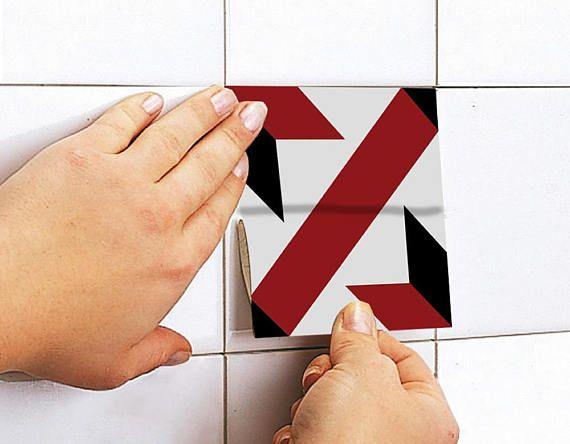 Piastrelle francese rosso e nero piastrelle per pavimenti