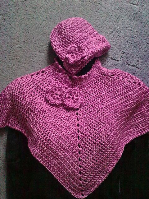Toddlers Poncho Amp Hat Set Pattern By Emilia Rooney Girls