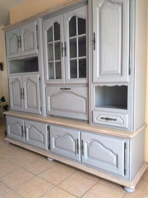 relooking meuble buffet chene gris bois blanchi le mans sarthe