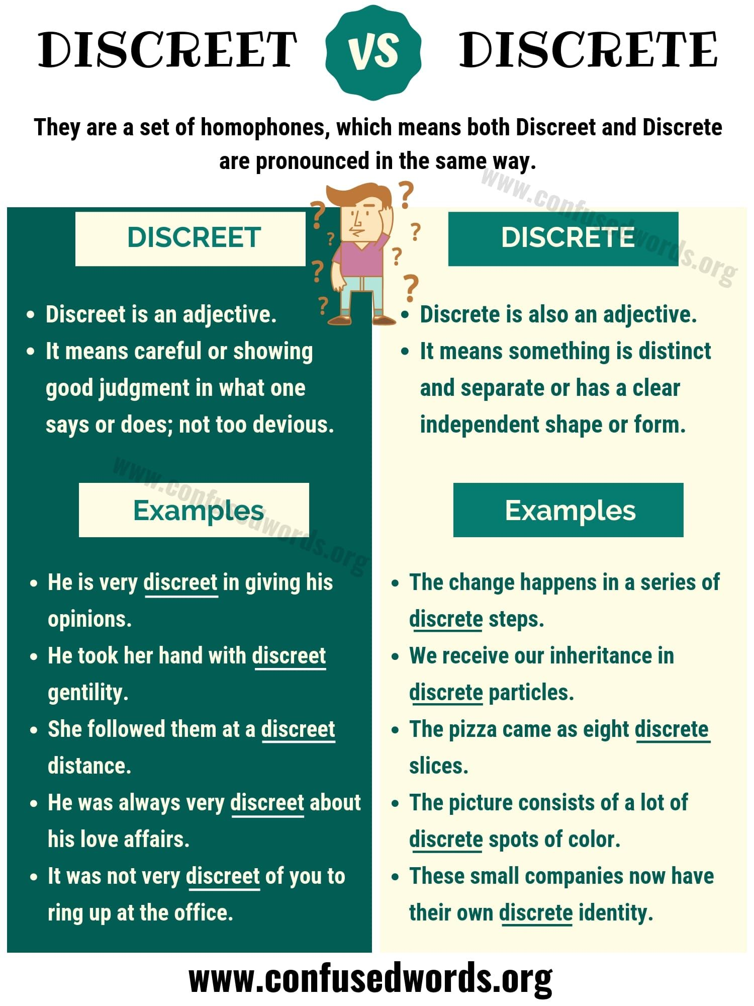 Discreet Vs Discrete How To Use Discrete Vs Discreet In