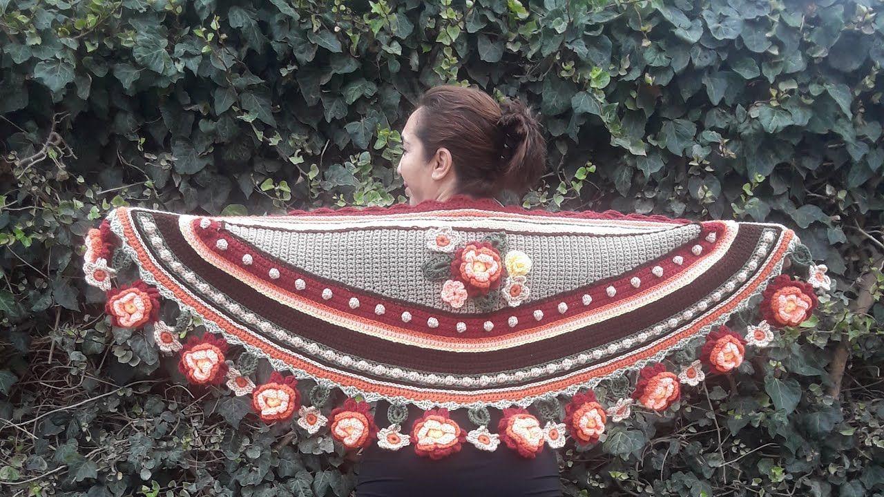 CHAL a Crochet Media Luna de Otoño 4a parte..... - YouTube | TEJIDOS ...