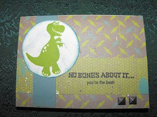Later Sk8r paper pack (paper is from Close To My Heart ~ X7167B) dinosaur card Paper can be found on my website: www.LaurenKelly.ctmh.com  #Cardmaking, #Card #CTMH
