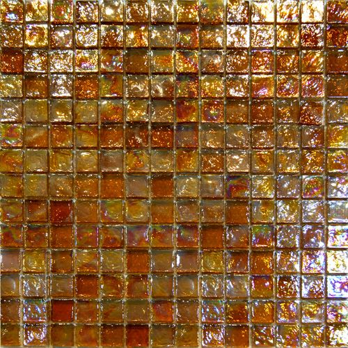 Golden Brown Iridescent Gl Mosaic Tile In Stock 15 99 Sf