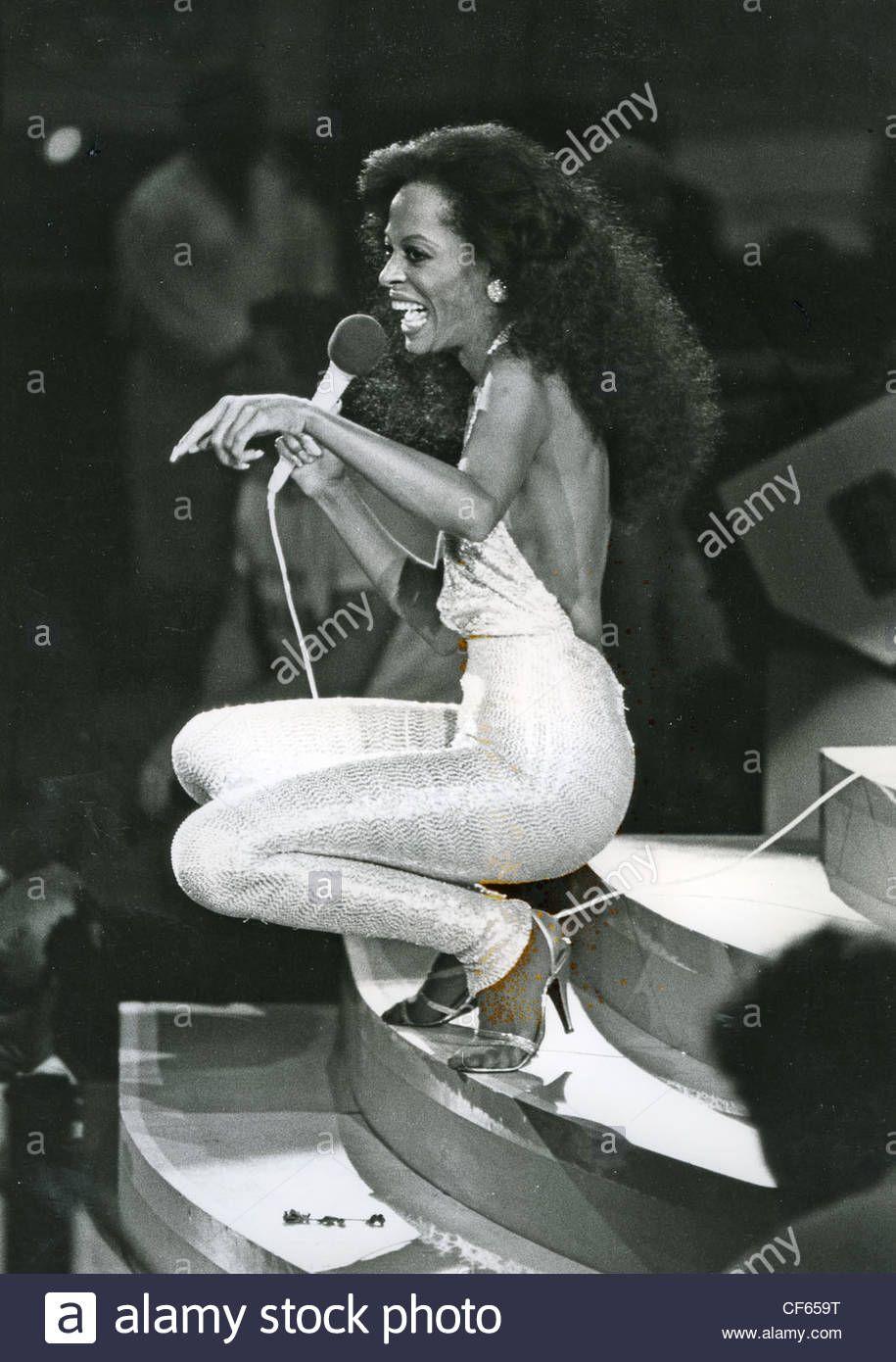 Diana Ross At The Ahoy, Rotterdam, In 1982. Photo Rob