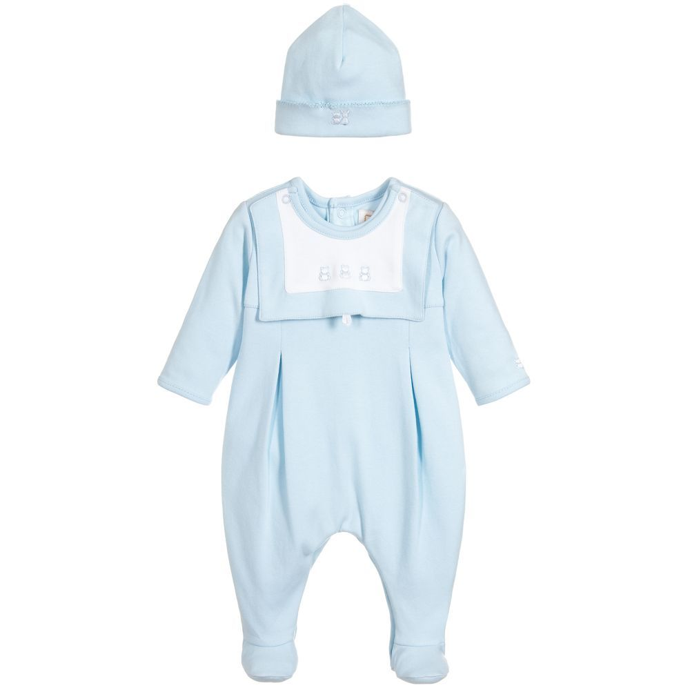 b5edfd19dcba A cute and comfortable babygrow set by Emile et Rose made in pale blue  cotton jersey