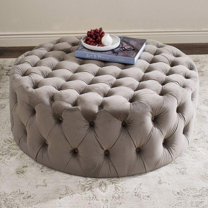 Safavieh Charlene Tufted Ottoman | furniture | Pinterest | Vestidor ...
