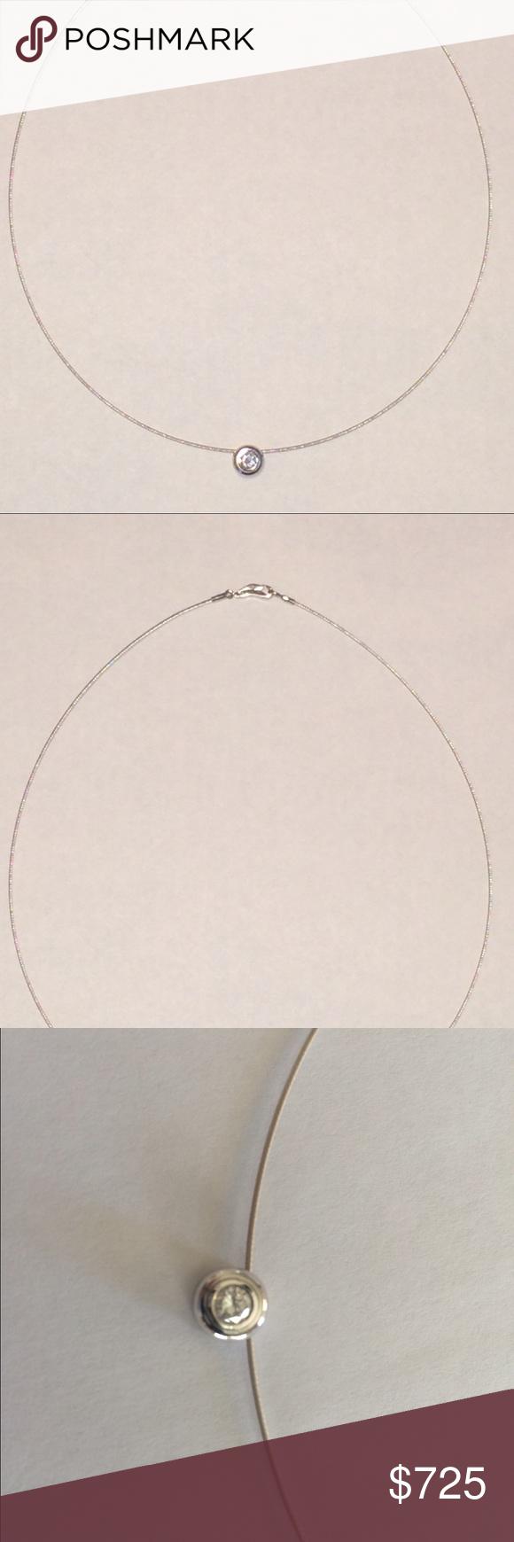 Custom 1 3 Carat Diamond Necklace White Gold Jewelry Necklaces Solitaire Pendant Necklace White Gold Jewelry