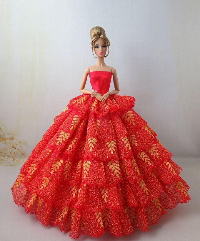 Fashion Royalty Princess Red Dress Evening gown for 11.5in.Doll