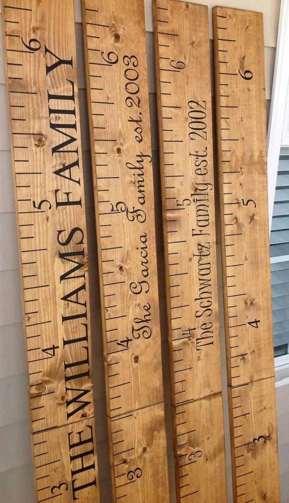Custom Wooden Childrens Growth Chart Custom Giant Ruler Rustic