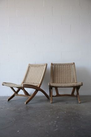 Exceptionnel HANS WEGNER STYLE FOLDING Chairs