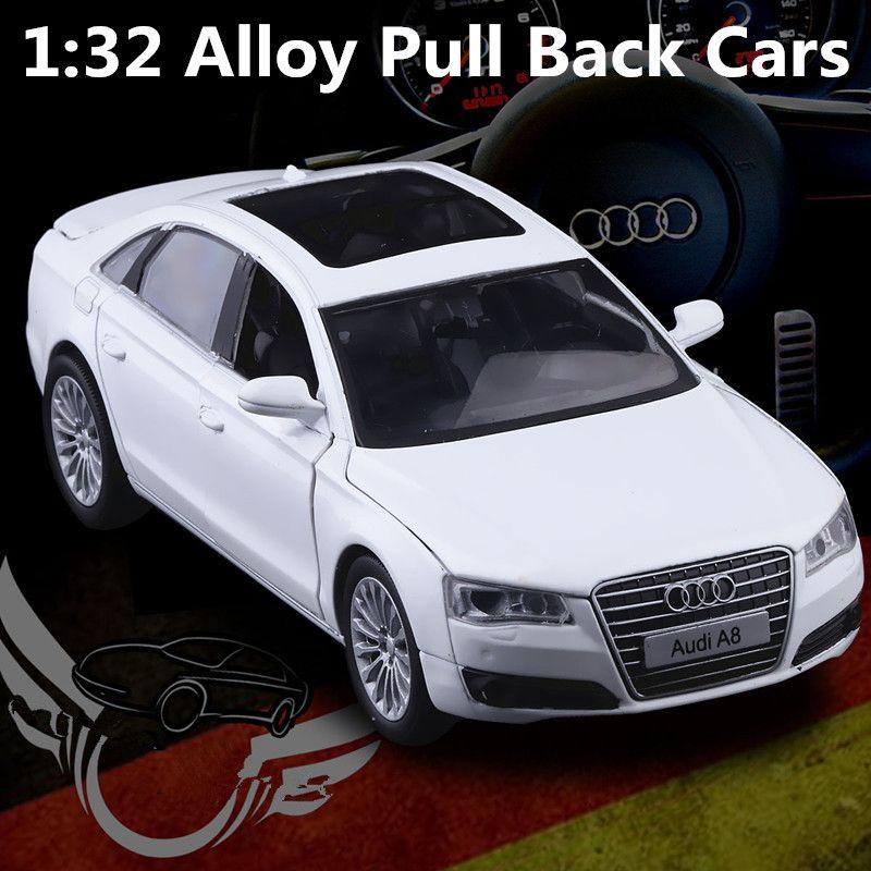 Superior 1:32 Paduan Model Mobil, Audi A8 Model Simulasi Tinggi, Pengecoran Logam, Pictures Gallery