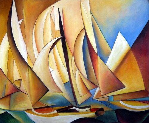 Pertaining to Yachts and Yachting, Charles Sheeler, 1922