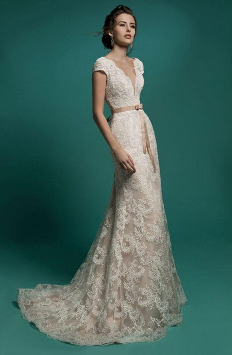 Resultado de imagen para vestido de novia embarazada con escote en ...