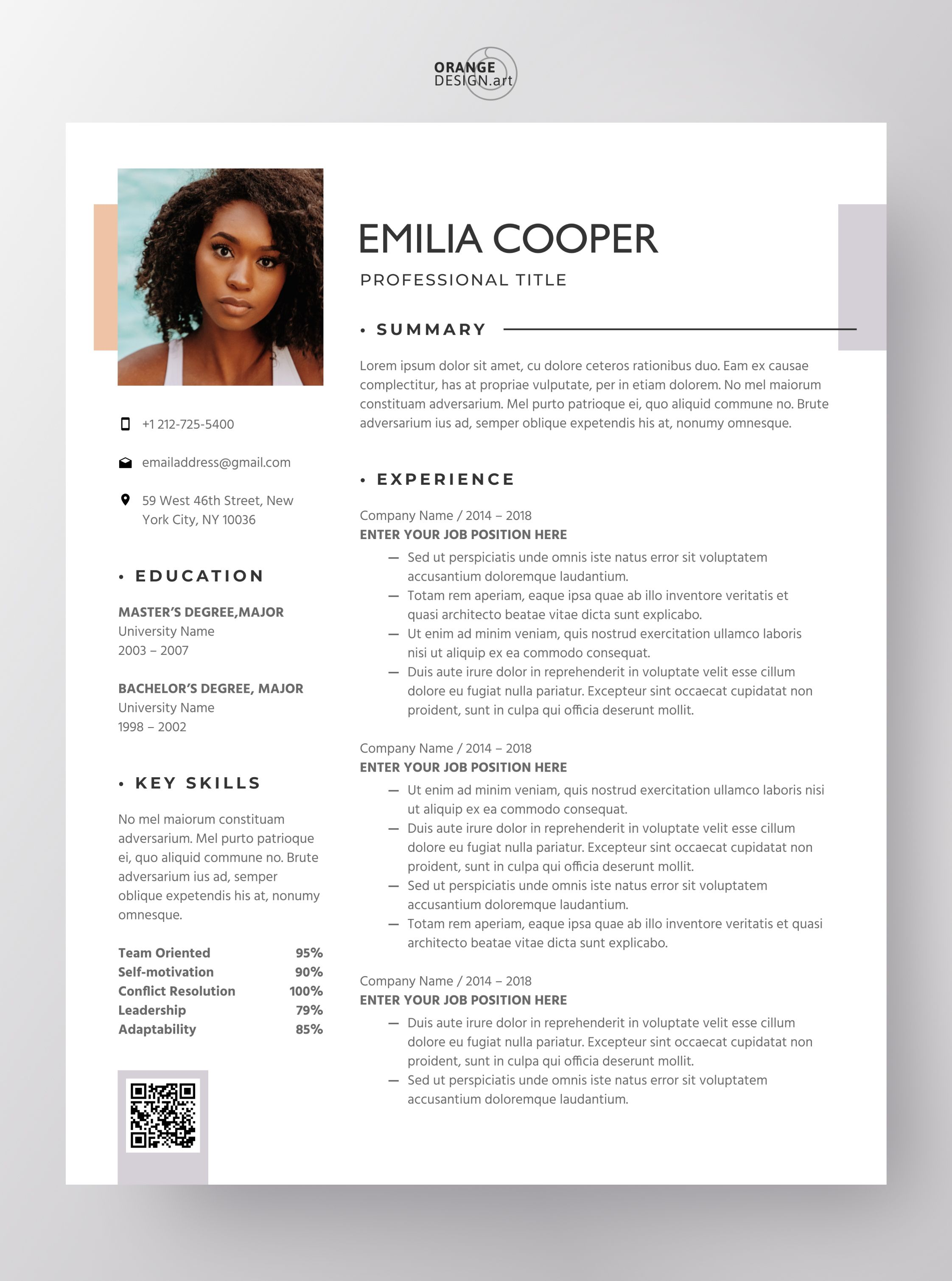 Resume Template Word 2021 Professional Cv Template With Photo Personal Cv Design Modern Resume Template Curriculum Vitae Cooper In 2021 Resume Template Word Cv Template Professional Modern Resume Template