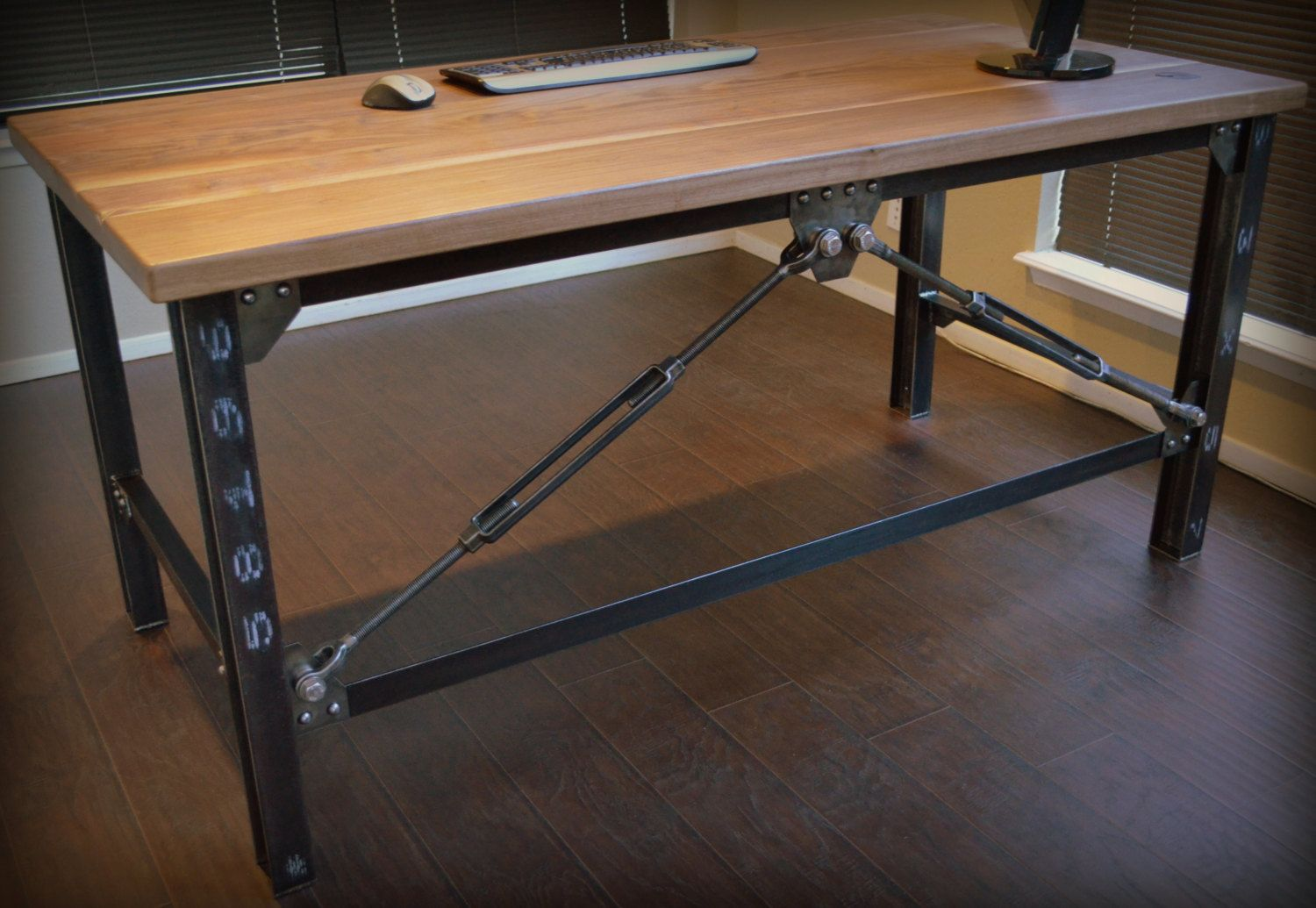 Items similar to Industrial Executive Desk on Etsy
