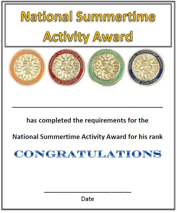 Pin by Mona S on CUB SCOUTS: IMMEDIATE RECOGNITION CERTIFICATES for