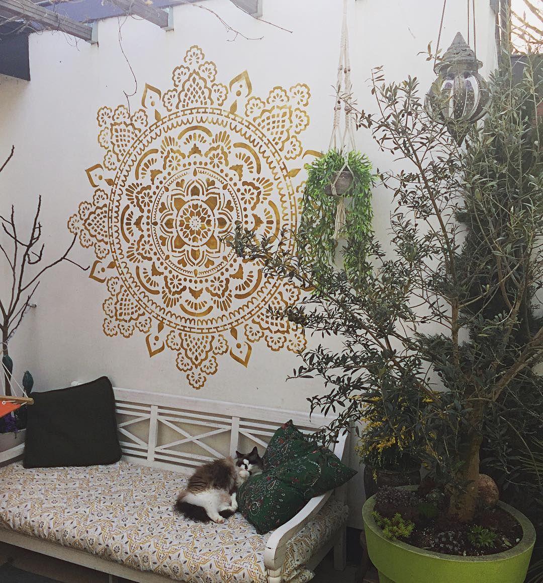 Just Painted Our Garden Wall Love It Mandala Mandala Art