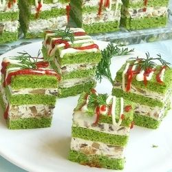 Appetizers in cubes with spinach by Sara_Miki