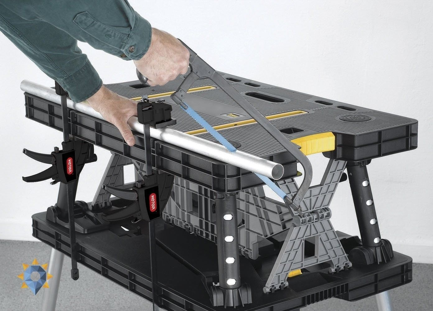 Portable Work Station Folding Saw Horse Mobile Table Bench Garage Diy Tools Diy Tools Mobile