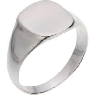 Buy Sterling Silver Plain Signet Ring at Argos.co.uk - Your Online Shop for Men's fashion rings.