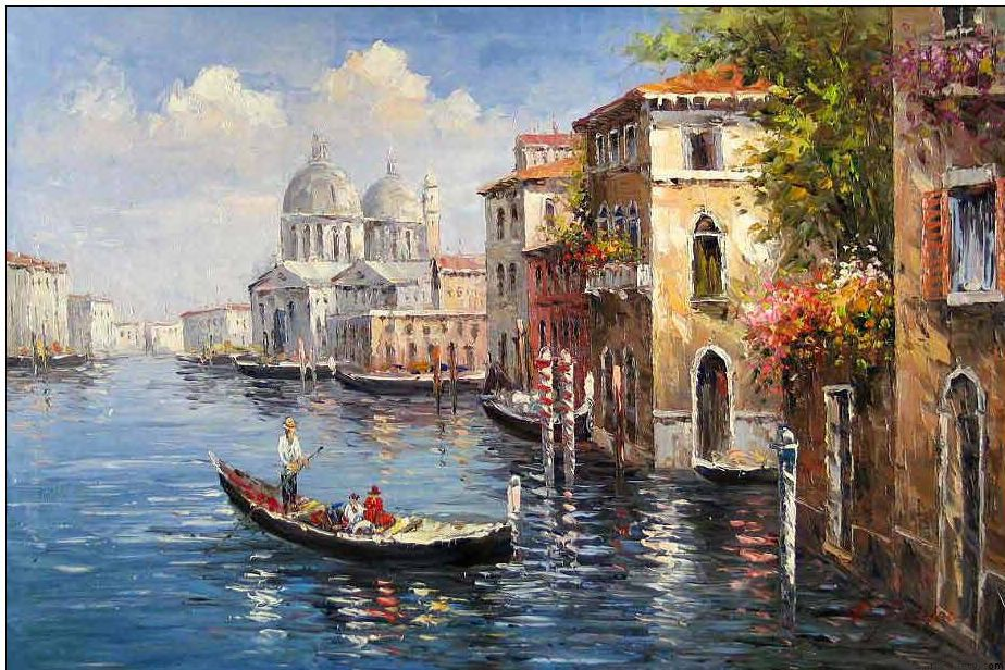 Venice Oil Painting Venice Painting Italy Painting Oil Painting Nature