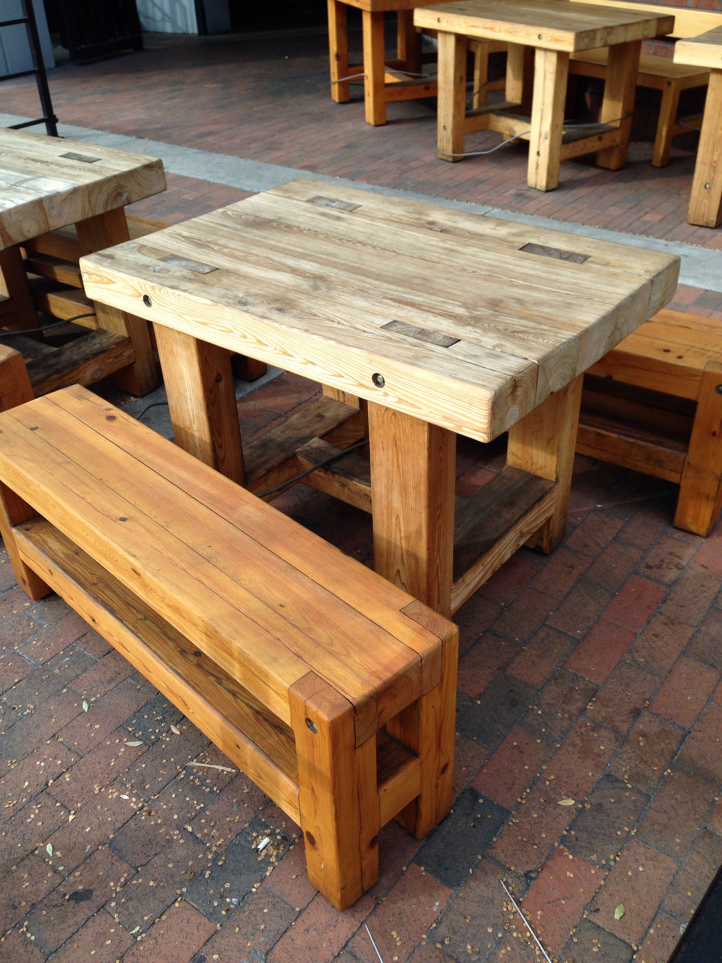 Table idea made from 6x4's | HOME - DIY | Table, Wood ...
