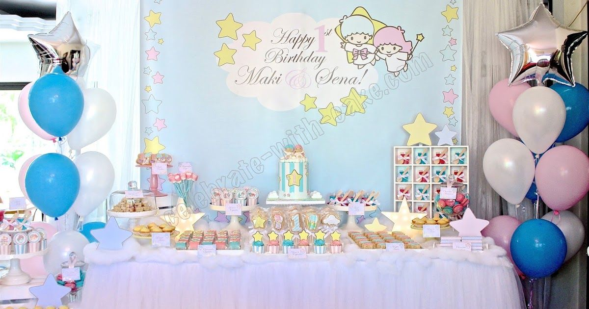 Little Twin Stars Dessert Table (Click on Post for more