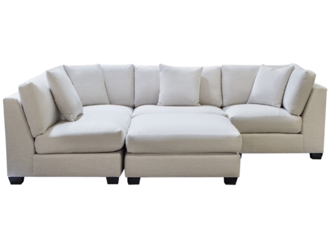 Square Modular Sectional Feather Down Custom Canadian Made