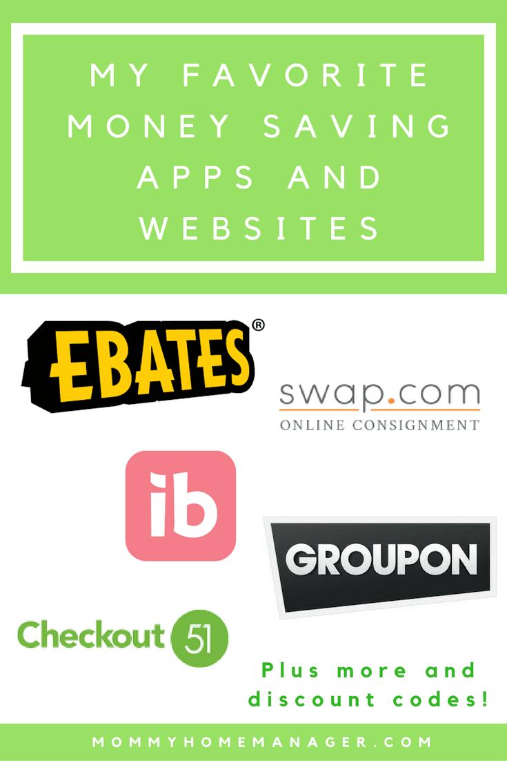 my favorite money saving apps and websites pinterest rebate apps