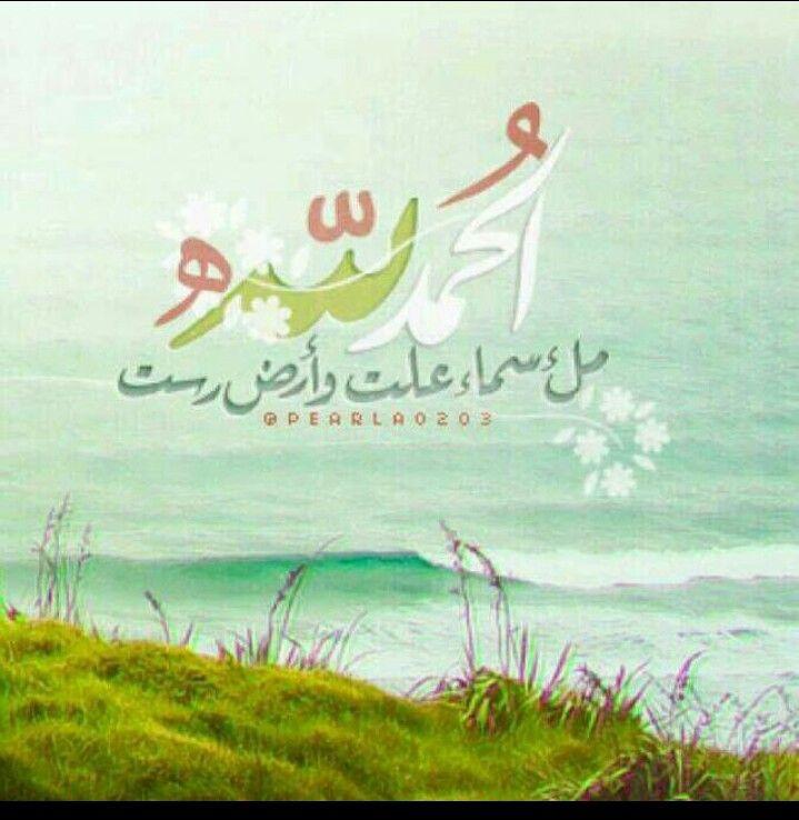 الحمد لله ملء سماء علت وأرض رست Arabic Arabic Calligraphy Art