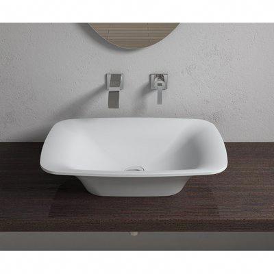 InFurniture Stone Rectangular Vessel Bathroom Sink Sink ...