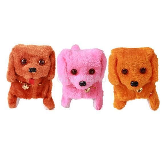 Lovely Electronic Walking Talking Dog Toy Sound Mimicry Kids Play