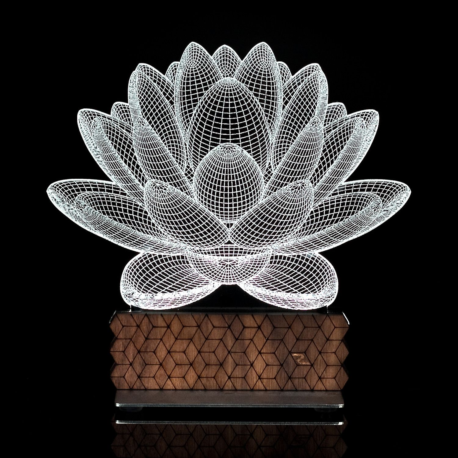 3d Illusion Lamp Lotus Generation 2 If You Re An Innovator Who Likes To Think Outside The Box This Acrylic O 3d Illusion Lamp 3d Illusions Touch Of Modern