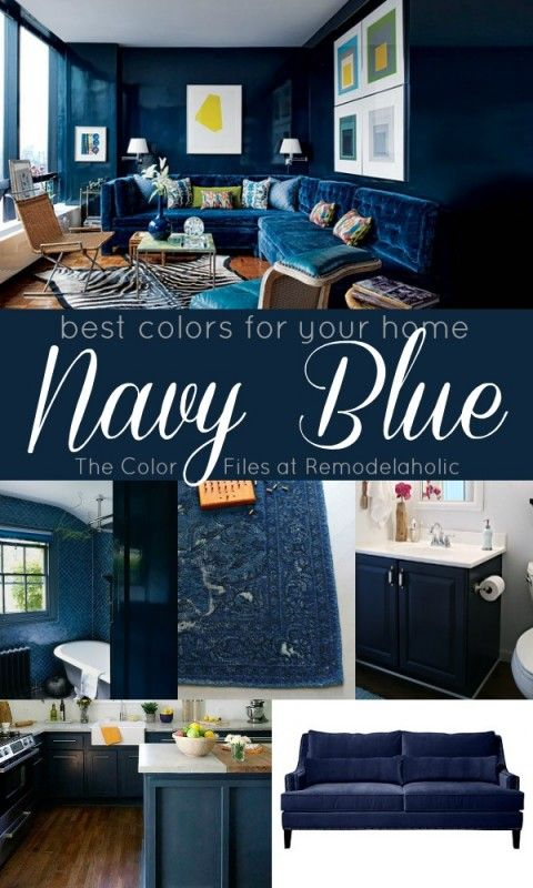 Remodelaholic Best Colors For Your Home Navy Blue Living Room