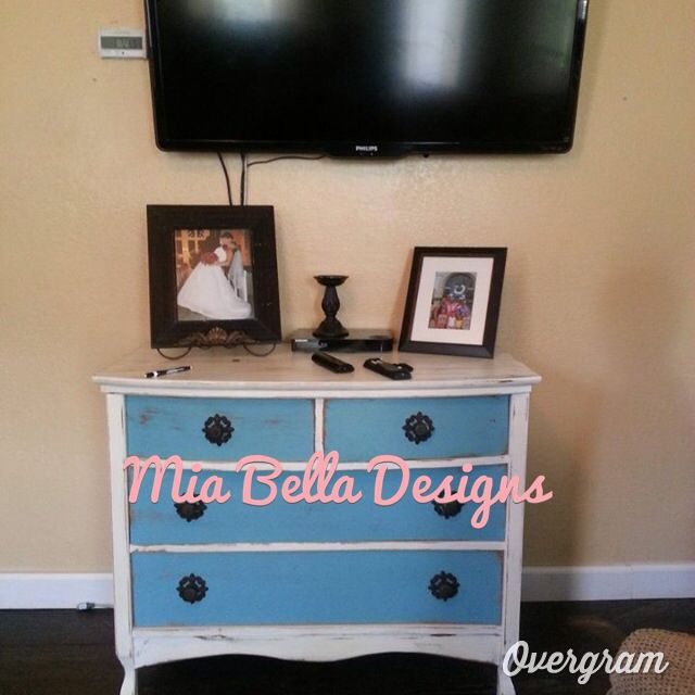 Dresser painted in shabby paints