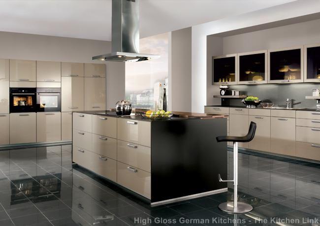Xeno champagne acrylic ultra high gloss kitchen Renovation - nobilia küche erweitern