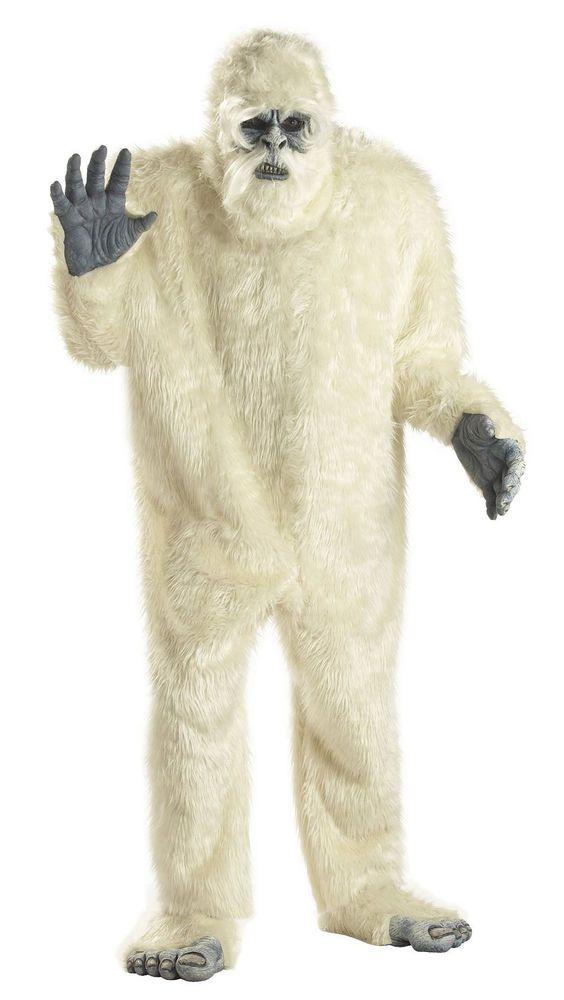 BIGFOOT ADULT MENS FANCY DRESS ANIMAL HALLOWEEN COSTUME BIG FOOT