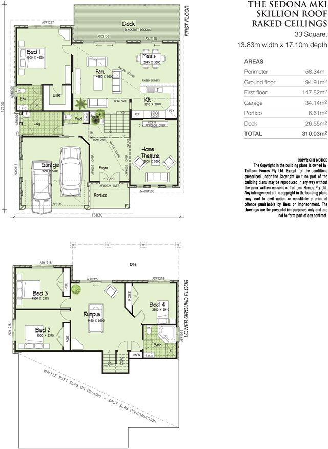 Sedona MKI - TRI-LEVEL-Metro facade - Skillion roof., Home Design ...
