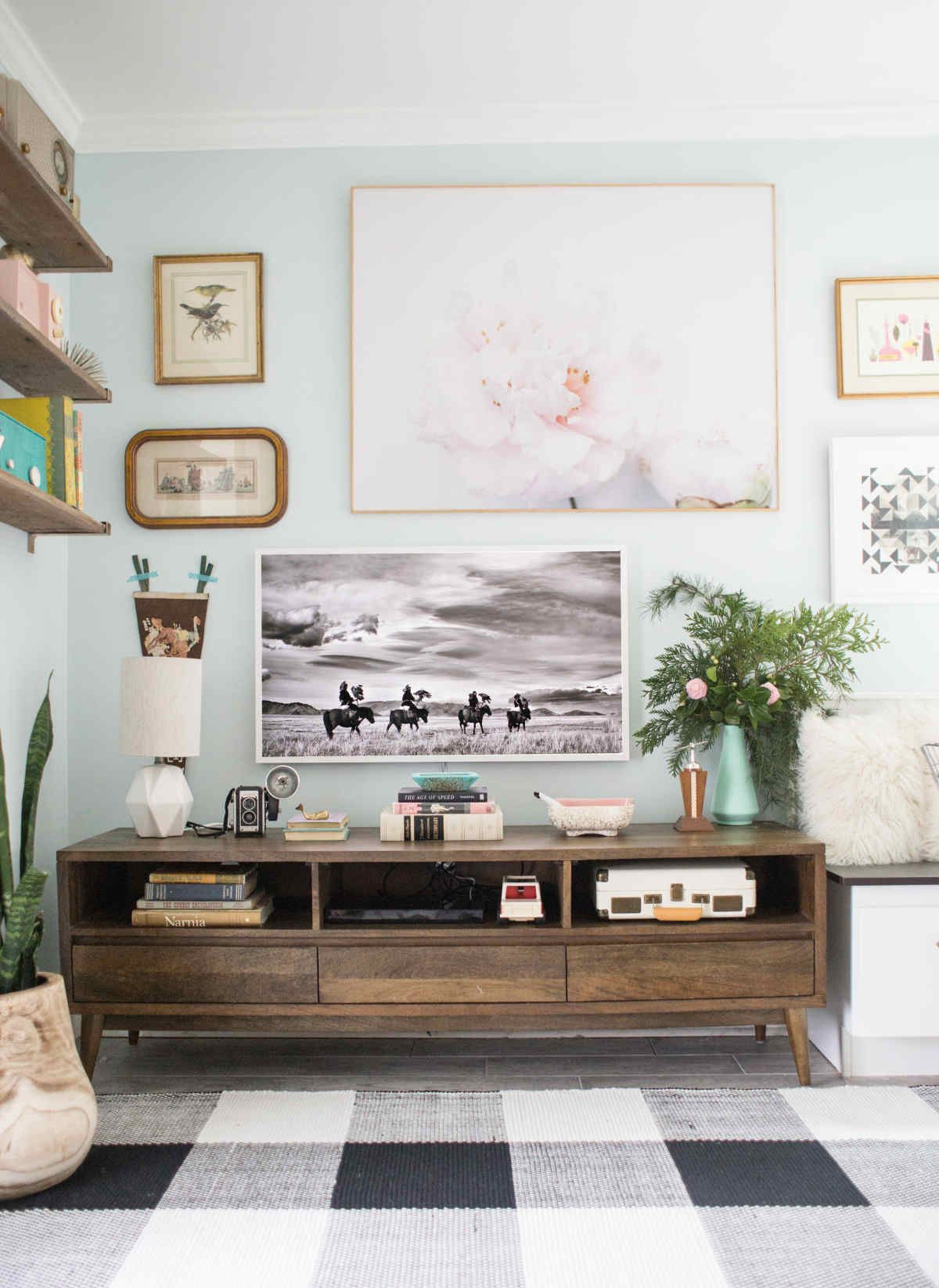 How To Design Around The Tv In Your Living Room Lay Baby Lay
