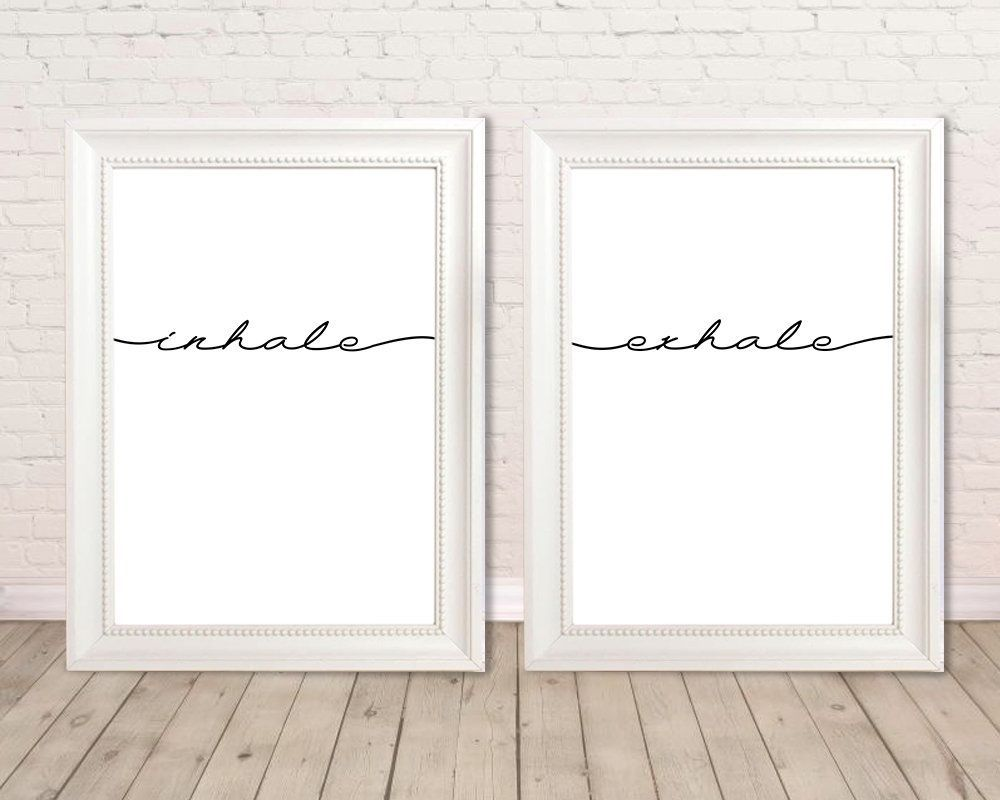 Inhale Exhale print, office prints, bedroom prints, inhale exhale poster, printable inhale exhale, inhale exhale wall art, quotes prints #inhaleexhale Inhale Exhale print, office prints, bedroom prints, inhale exhale poster, printable inhale exhale, inhale exhale wall art, quotes prints by StudioFunnyPictures on Etsy #inhaleexhale