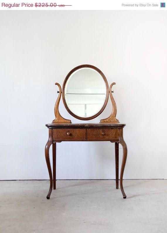Astounding 1940S Vanity Vintage Wood Vanity Desk Home Decor Download Free Architecture Designs Scobabritishbridgeorg
