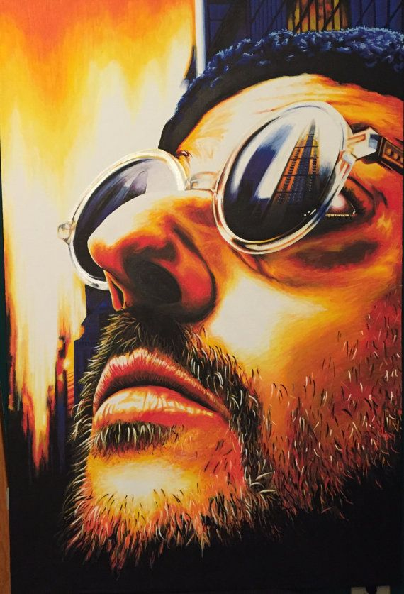 lEon – original paint marker painting – actor Jean Reno from Leon: The Professional