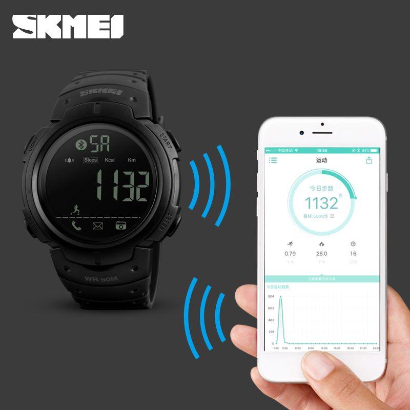 3923f9e9a52ac0 Sport Smart Watch Men SKMEI Brand Pedometer Remote Camera Calorie Bluetooth  Smartwatch Reminder Digital Wristwatches Relojes jarrebnnee Worldwide  Shipping ...
