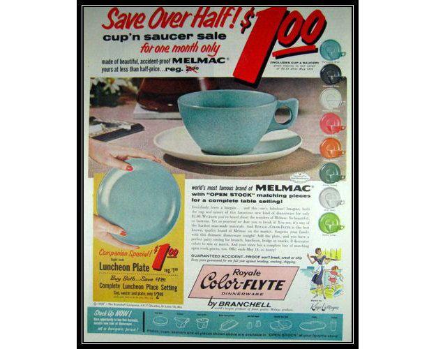 Vintage Plastic Melmac Dinnerware History Melamine  Vintage Color-Flyte Melmac Dinnerware Ads  sc 1 st  Pinterest & Vintage Plastic Melmac Dinnerware History Melamine : Vintage Color ...